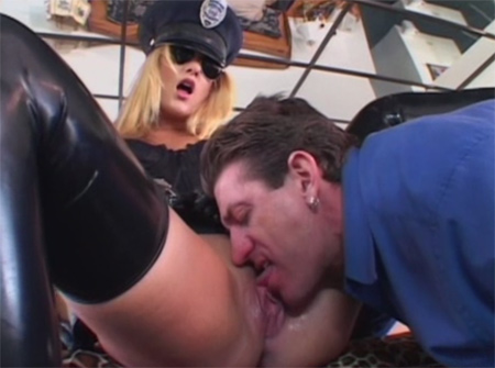 delilah stone latex cops pussy lick