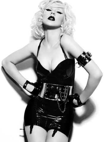 christina aguilera black latex