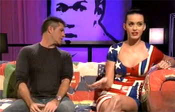 katy perry latex stars stripes dress