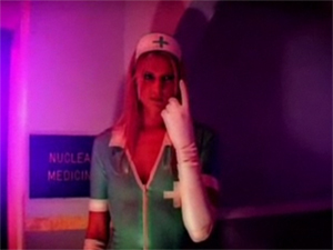 ashley long latex nurse