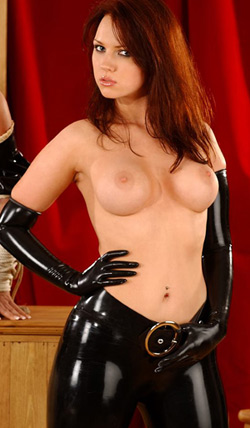 latex kinky gloves