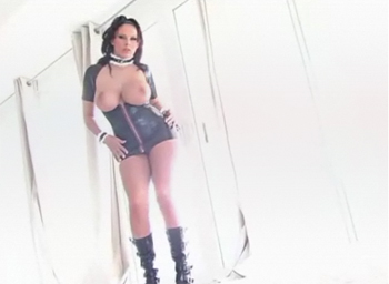 gianna michaels rubber dress