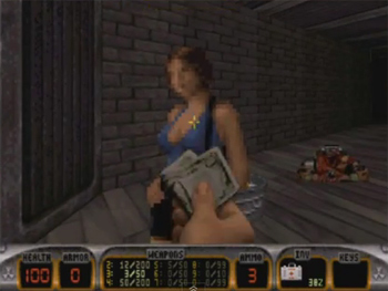 duke nukem 3d bar babe