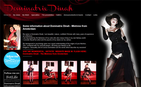 dominatrix dinah website