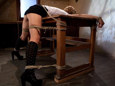 black fox table bondage