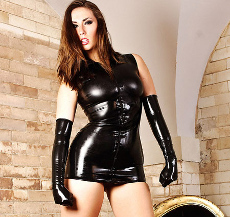 paige turnah latex dress