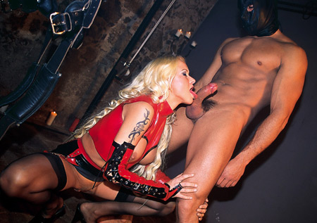 stacy silver latex bj