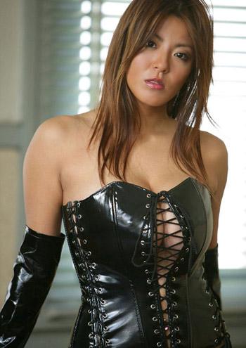 big boob pvc corset asian