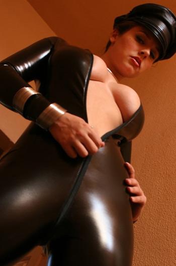 rubber catsuit cap