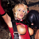 stacy silver latex sex swing